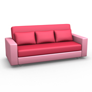 розовый диван для посетителей