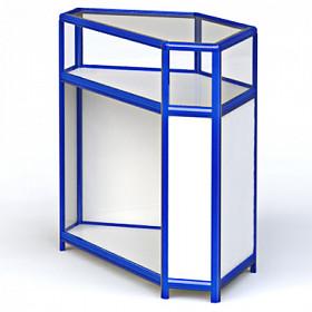 Угловая металлическая витрина
