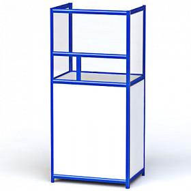 Кассовая металлическая витрина